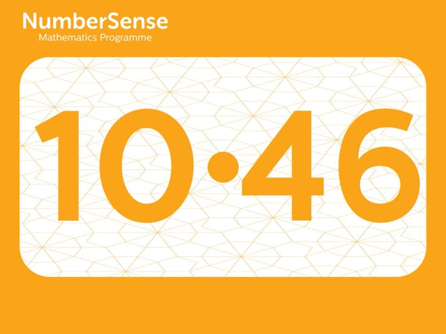 NumberSense Manipulating Numbers: Level 10, Task 46 (Gr.3, T.2, Wkbk 10)