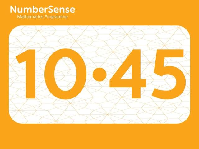 NumberSense Manipulating Numbers: Level 10, Task 45 (Gr.3, T.2, Wkbk 10)