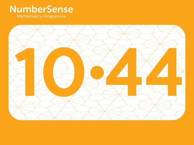 NumberSense Manipulating Numbers: Level 10, Task 44 (Gr.3, T.2, Wkbk 10)