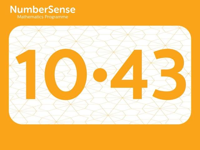 NumberSense Manipulating Numbers: Level 10, Task 43 (Gr.3, T.2, Wkbk 10)