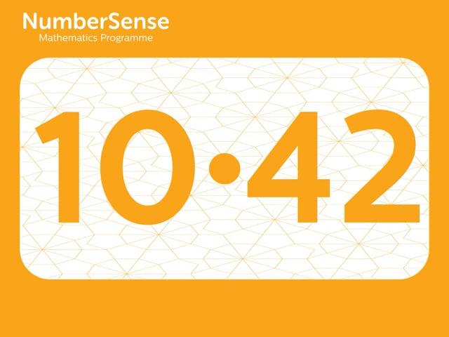 NumberSense Manipulating Numbers: Level 10, Task 42 (Gr.3, T.2, Wkbk 10)