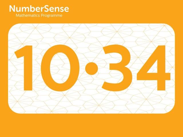 NumberSense Manipulating Numbers: Level 10, Task 34 (Gr.3, T.2, Wkbk 10)