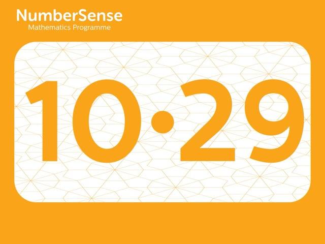 NumberSense Manipulating Numbers: Level 10, Task 29 (Gr.3, T.2, Wkbk 10)