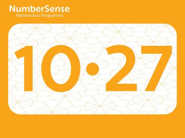 NumberSense Manipulating Numbers: Level 10, Task 27 (Gr.3, T.2, Wkbk 10)