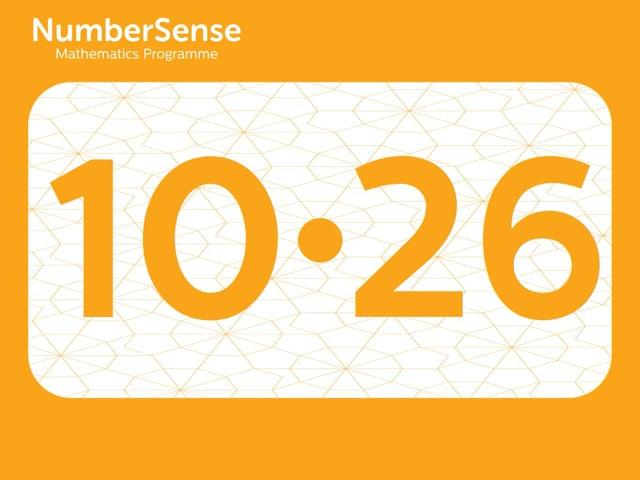 NumberSense Manipulating Numbers: Level 10, Task 26 (Gr.3, T.2, Wkbk 10)