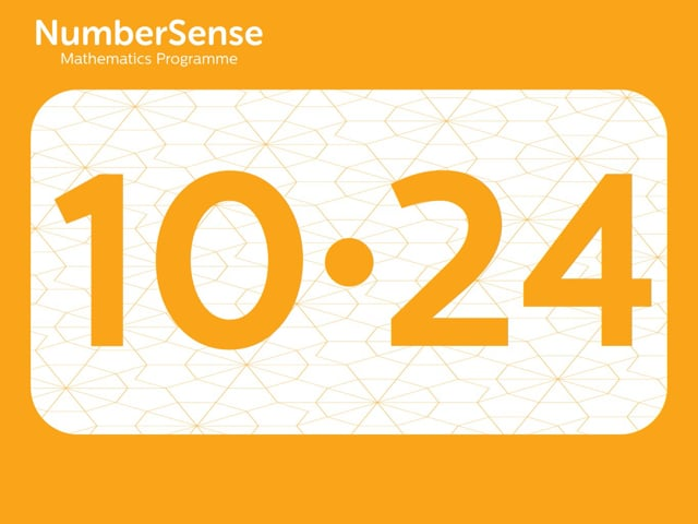 NumberSense Manipulating Numbers: Level 10, Task 24 (Gr.3, T.2, Wkbk 10)
