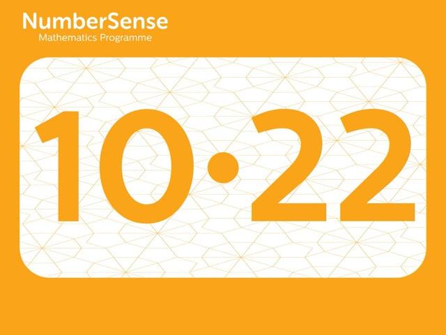 NumberSense Manipulating Numbers: Level 10, Task 22 (Gr.3, T.2, Wkbk 10)
