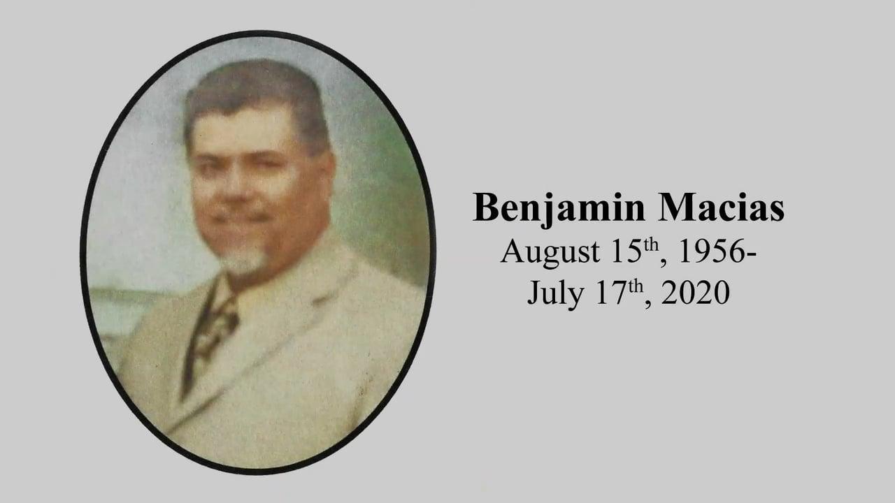 Benjamin Macias Memorial Video ~ St. Mel's Norco, Riverside National Cemetery & Hidden Acres