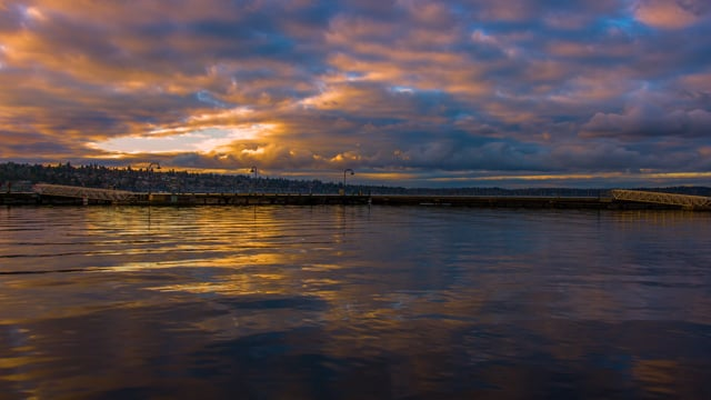 Relaxing Sunset at Gene Coulon Memorial Beach Park
