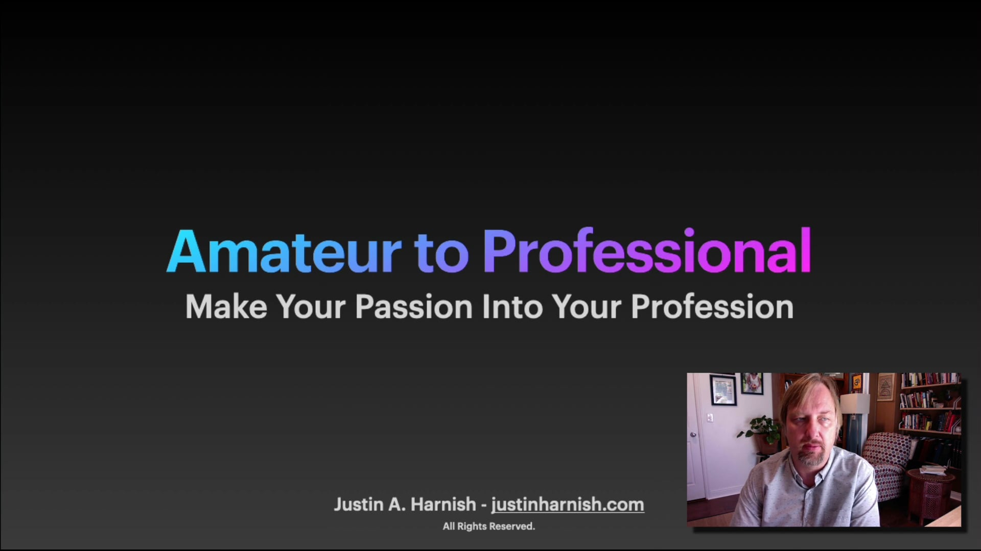 Amateur to Professional Introduction