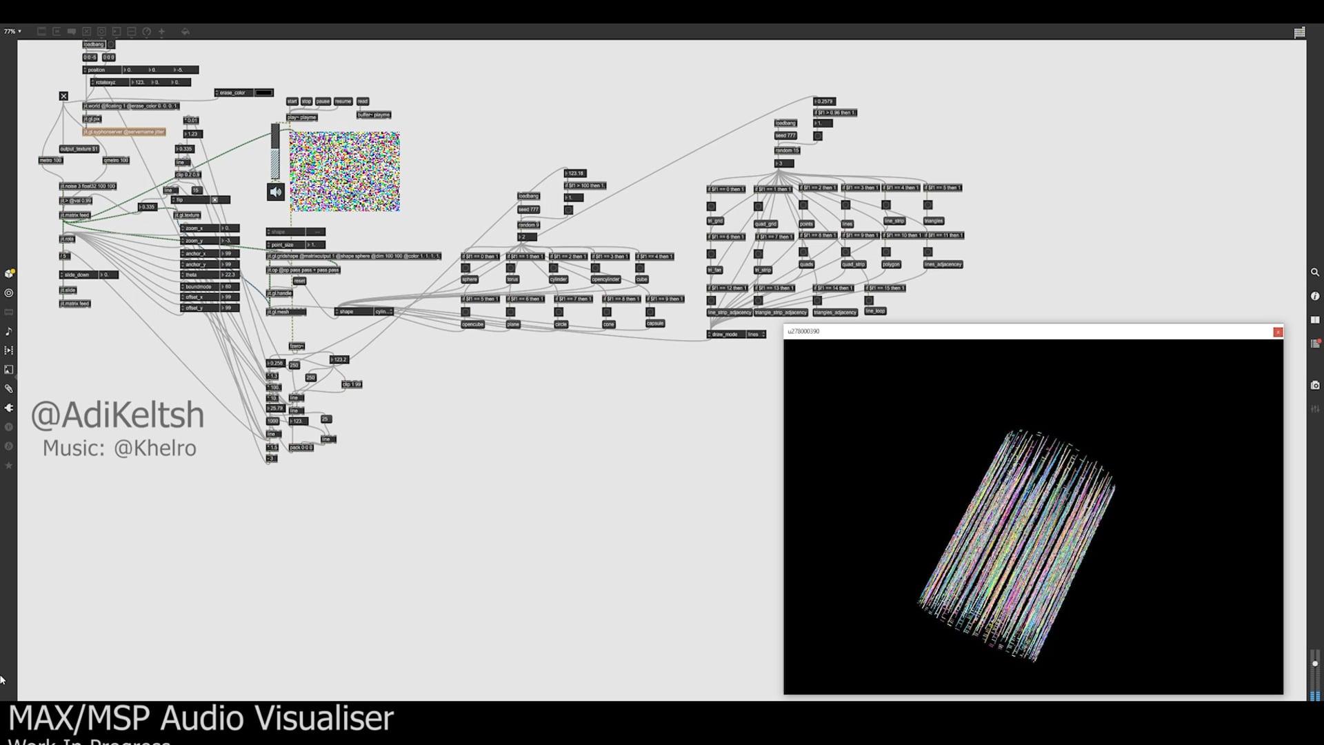 MAX/MSP Audio Visualiser