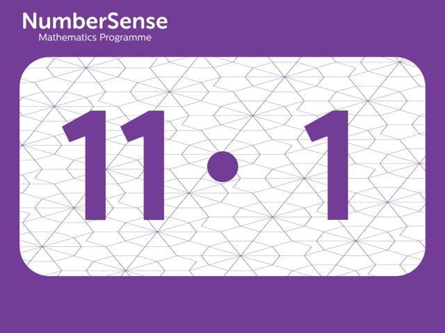 NumberSense Manipulating Numbers: Level 11, Task 1 (Gr.3, T.3, Wkbk 11)