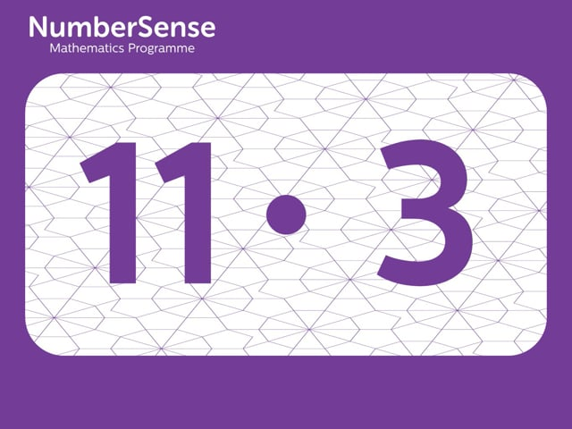NumberSense Manipulating Numbers: Level 11, Task 3 (Gr.3, T.3, Wkbk 11)