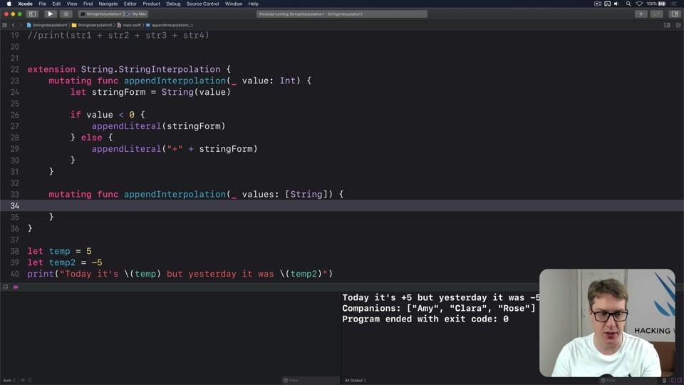 Advanced string interpolation, part one
