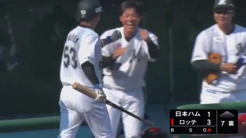 【ファーム】初球打ち!! マリーンズ・江村の逆転3ランホームラン!! 2020/8/16 M-F(ファーム)
