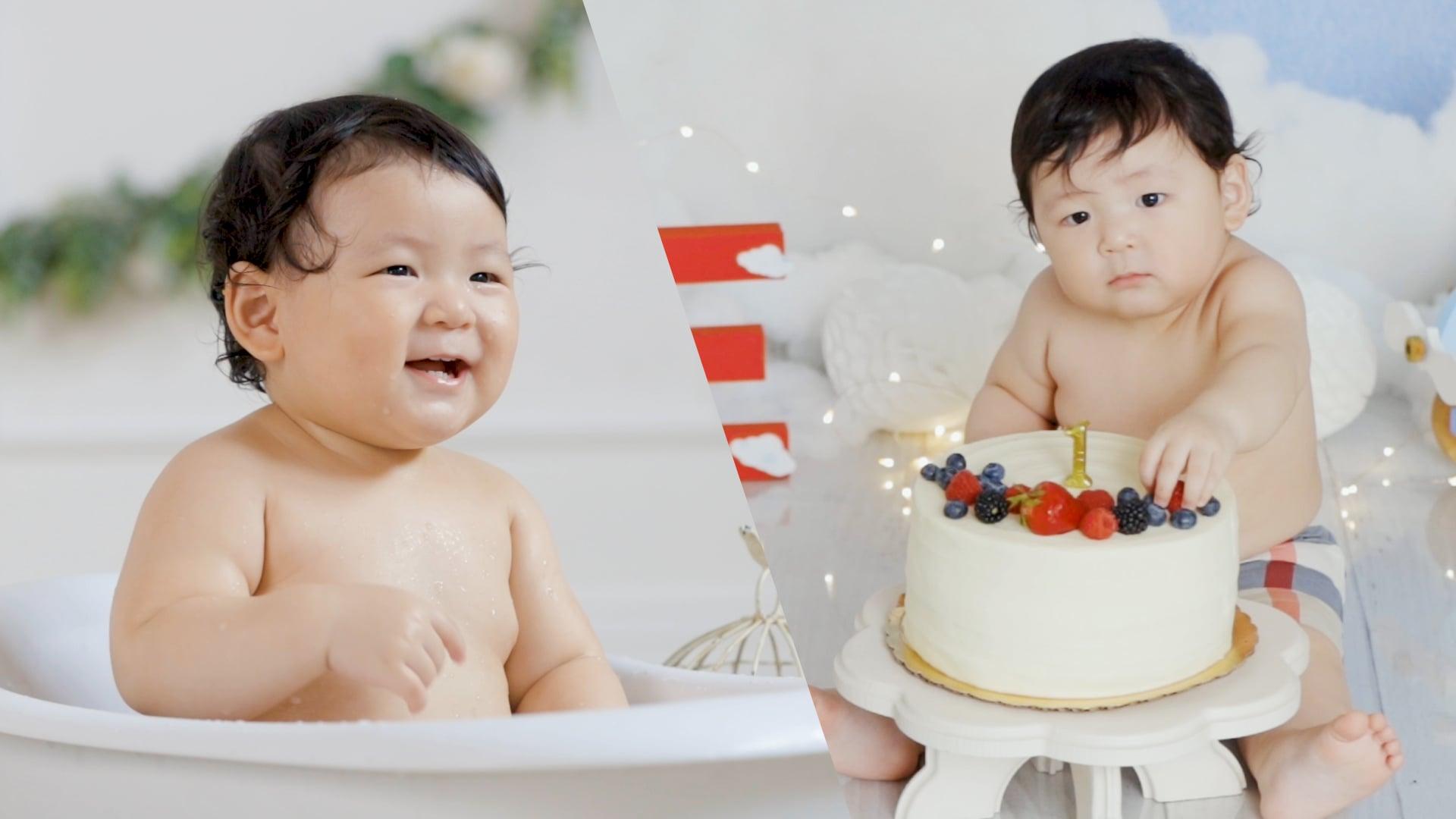 Cake Smash and Bath Time
