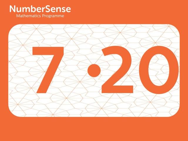 NumberSense Manipulating Numbers: Level 7, Task 20 (Gr.2, T.3, Wkbk 7)
