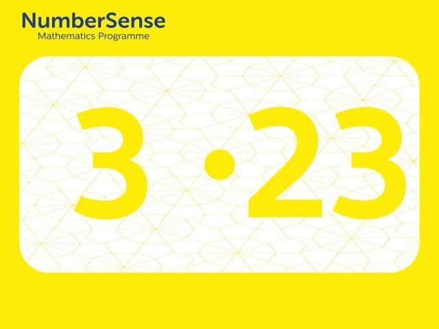 NumberSense Manipulating Numbers: Level 3, Task 23 (Gr.1, T.3, Wkbk 3)