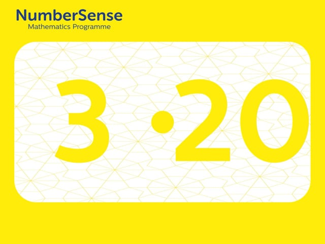NumberSense Manipulating Numbers: Level 3, Task 20 (Gr.1, T.3, Wkbk 3)
