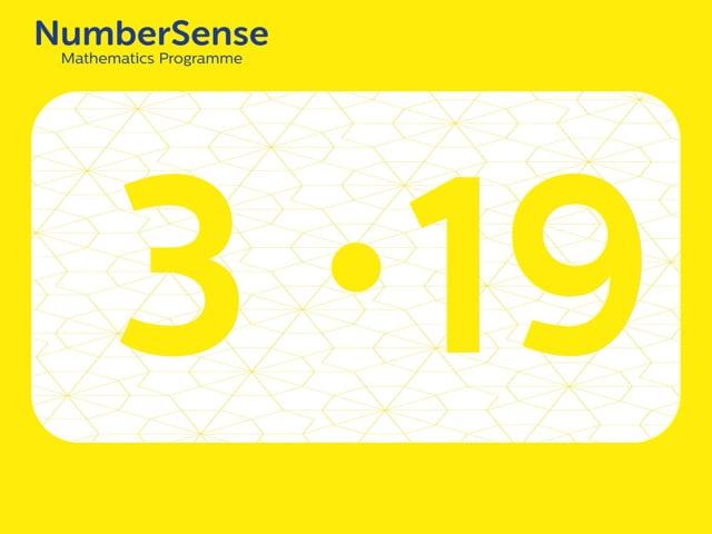 NumberSense Manipulating Numbers: Level 3, Task 19 (Gr.1, T.3, Wkbk 3)
