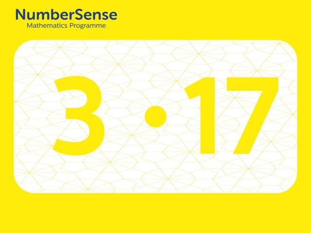 NumberSense Manipulating Numbers: Level 3, Task 17 (Gr.1, T.3, Wkbk 3)