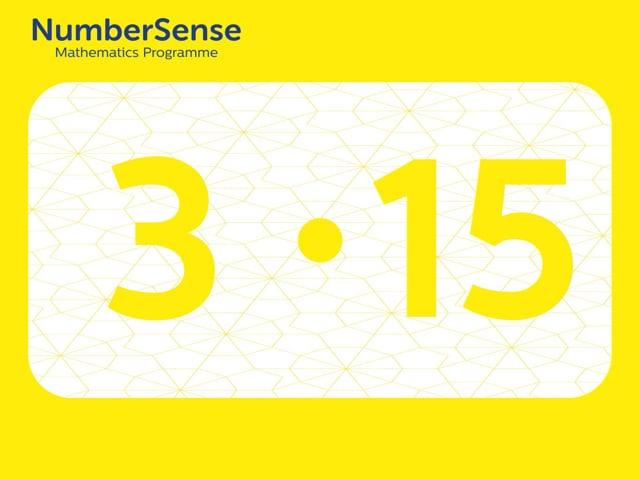 NumberSense Manipulating Numbers: Level 3, Task 15 (Gr.1, T.3, Wkbk 3)