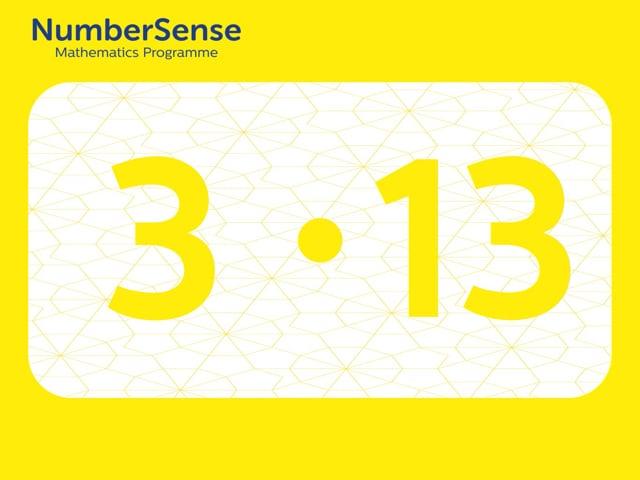 NumberSense Manipulating Numbers: Level 3, Task 13 (Gr.1, T.3, Wkbk 3)