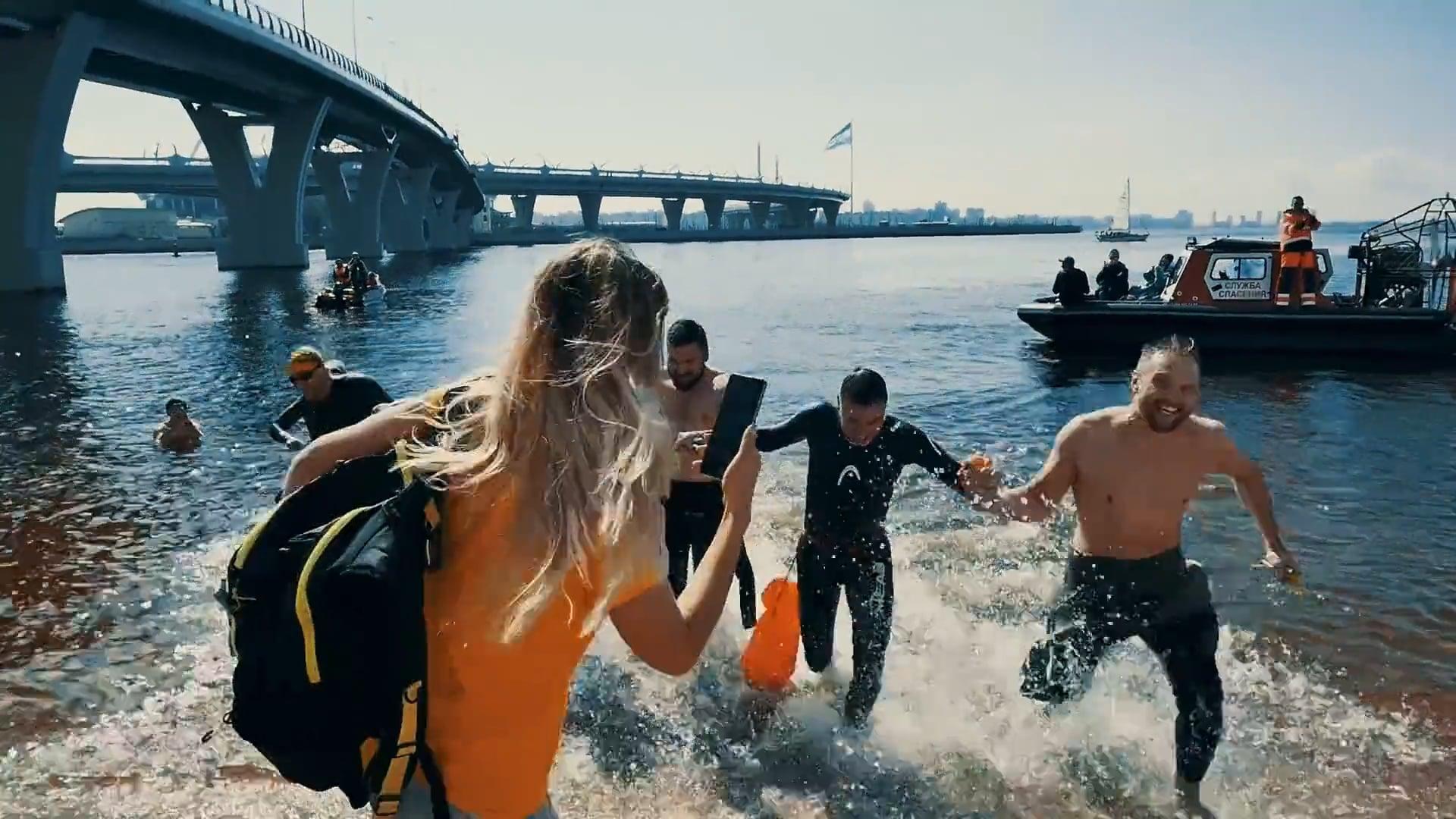 """Промо видео для Grand Swim Series """"13 bridges"""""""