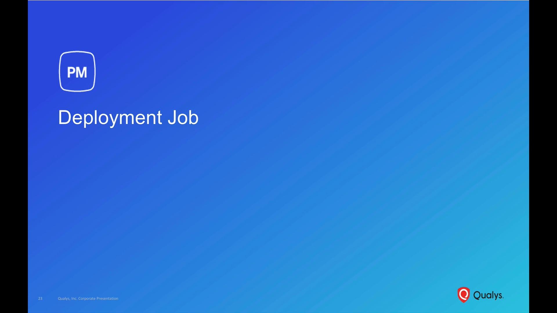 PM Deployment Job