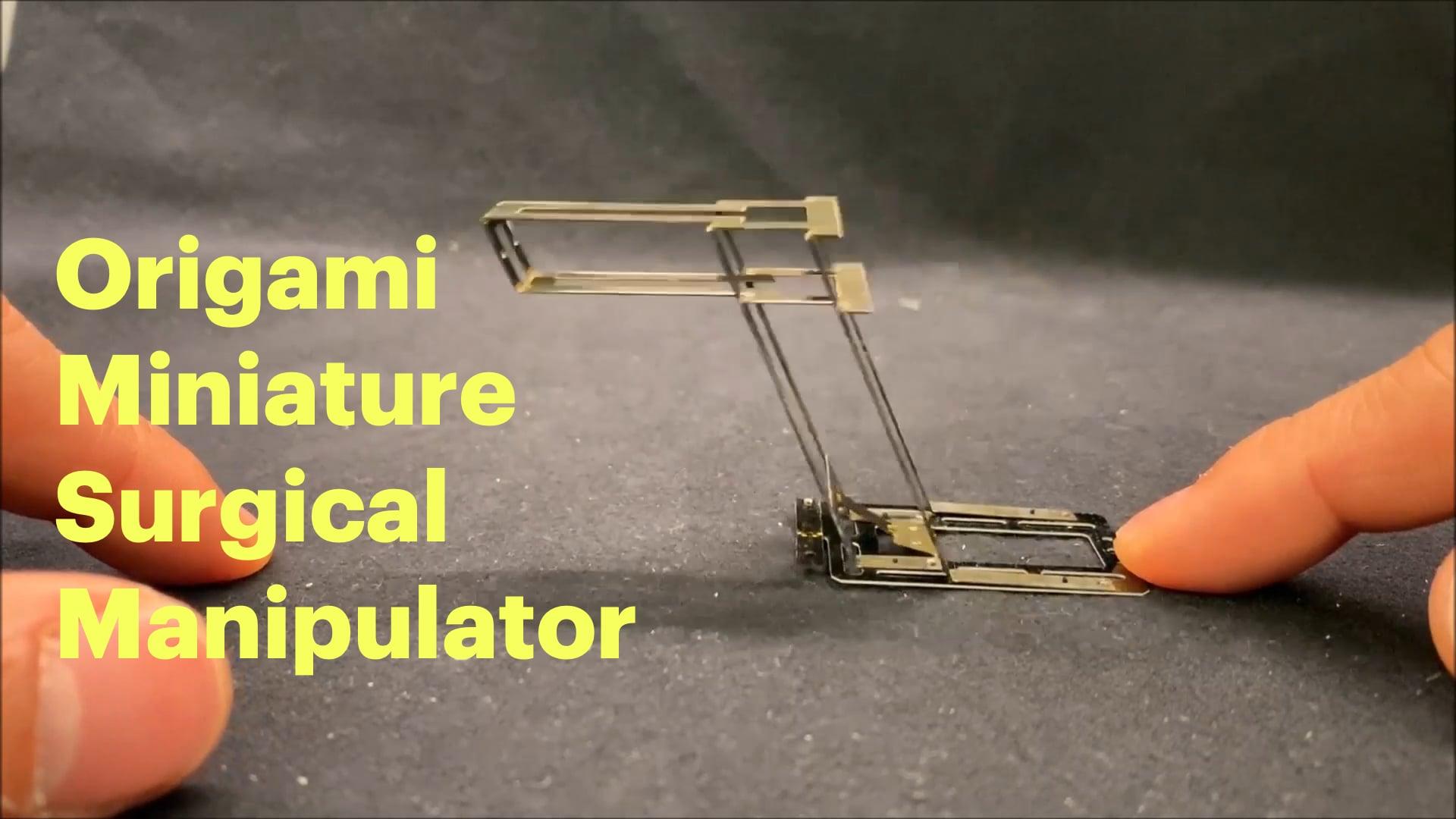 Origami Miniature Surgical Manipulator