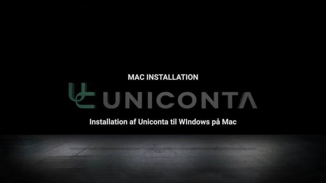 Sadan installerer du Uniconta på Mac