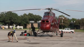 Helicopter Places HVACs on Convention Center Roof