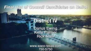 Final List of Candidates on Ballot