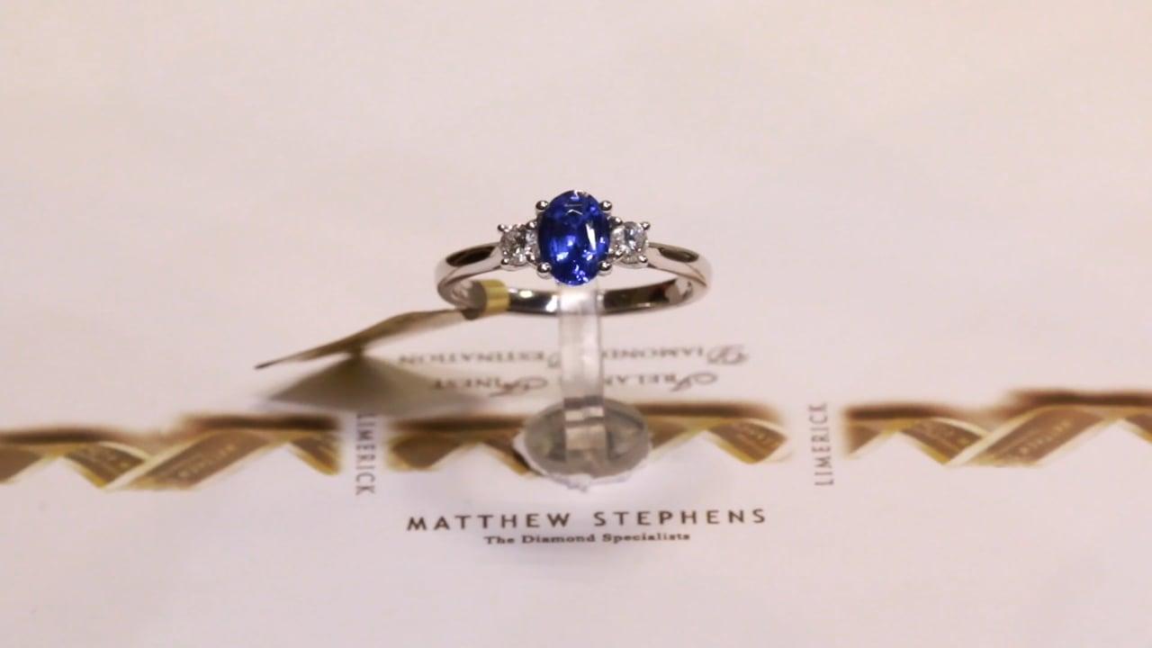 53798 - Sapphire & Diamond Three Stone Ring