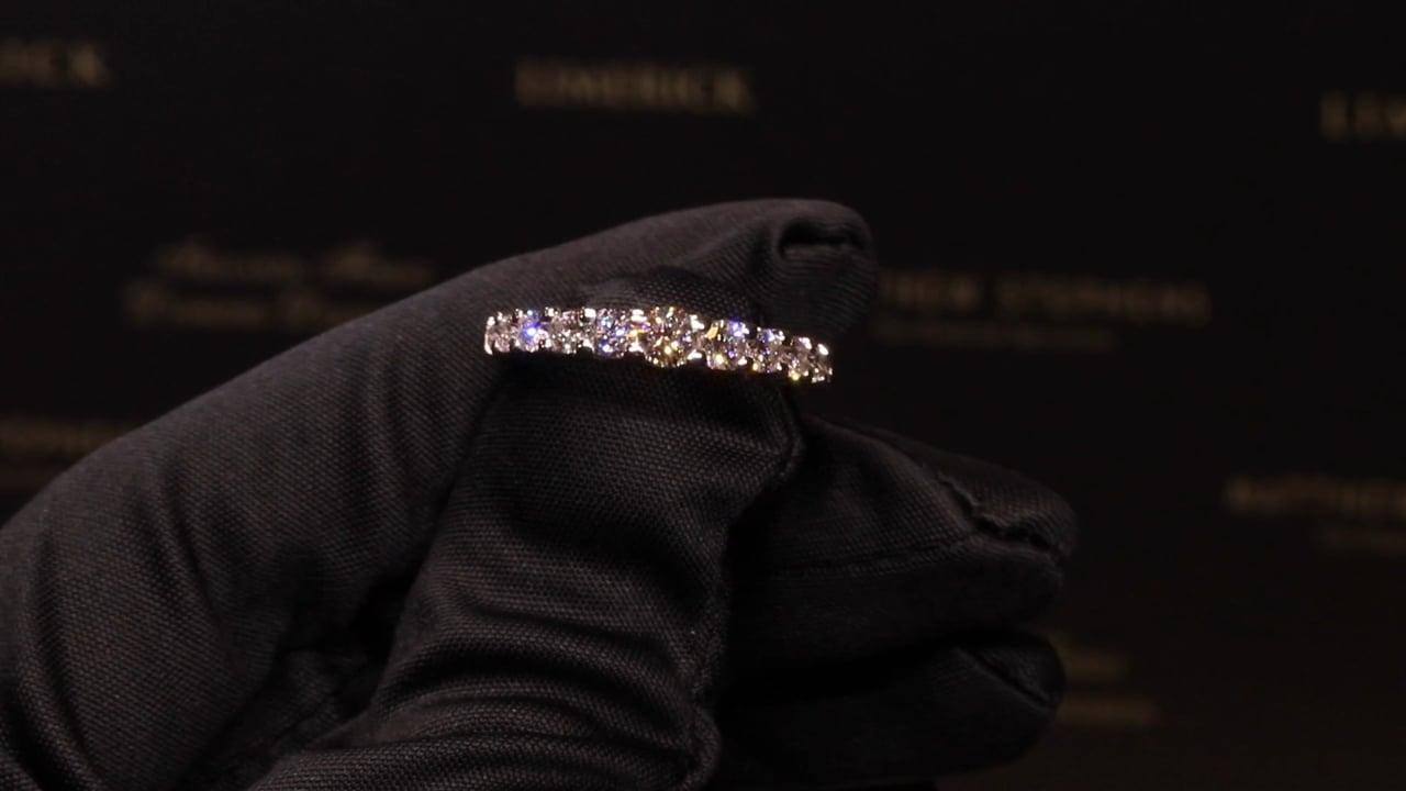 52244 - Graduated Eleven Stone Round Brilliant Diamond Eternity Ring, T1.00ct, Set in 18ct White Gold