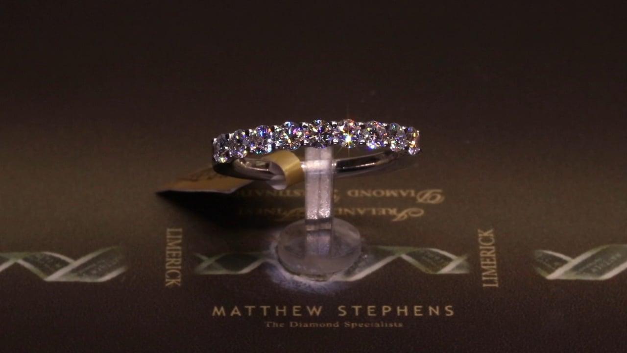 15788 - Nine Stone Round Brilliant Diamond Eternity Ring, T0.94ct, Set in 18ct White Gold