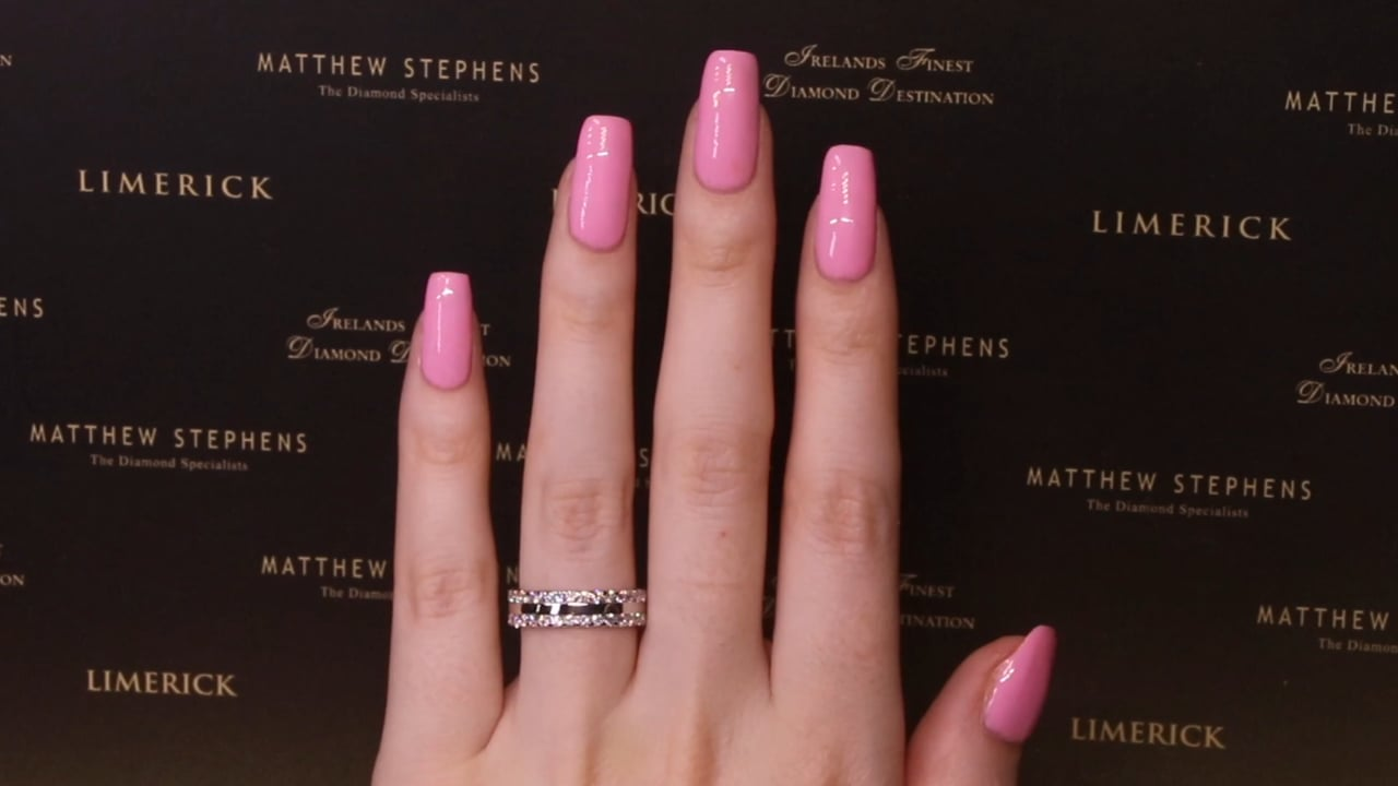 70939 - Two Row RB Full Eternity Diamond Ring, T2.00ct, Set in Platinum