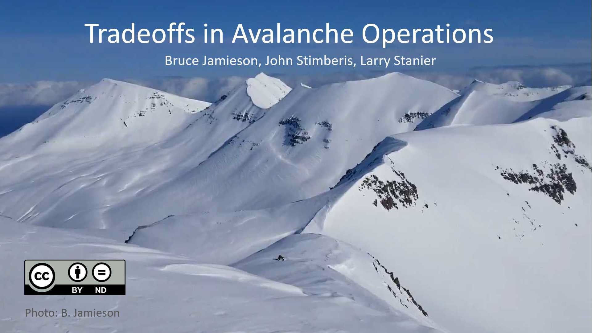 Tradeoffs in avalanche operations