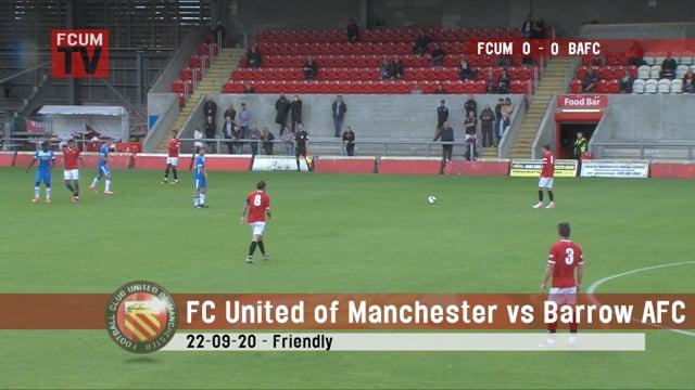 FC United vs Barrow AFC - Goals - 22-08-20