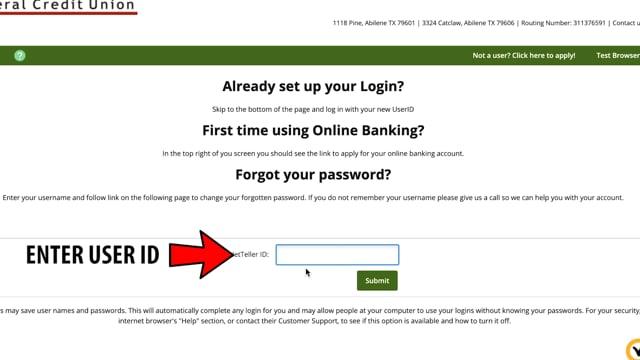 Online Banking: Forgot Password