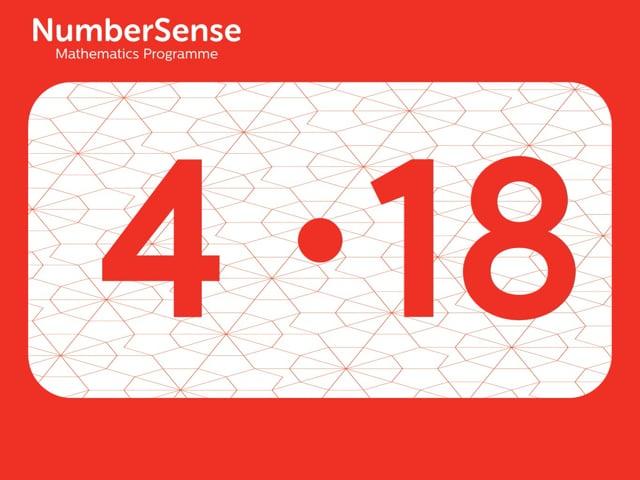 NumberSense Manipulating Numbers: Level 4, Task 18 (Gr.1, T.4, Wkbk 4)