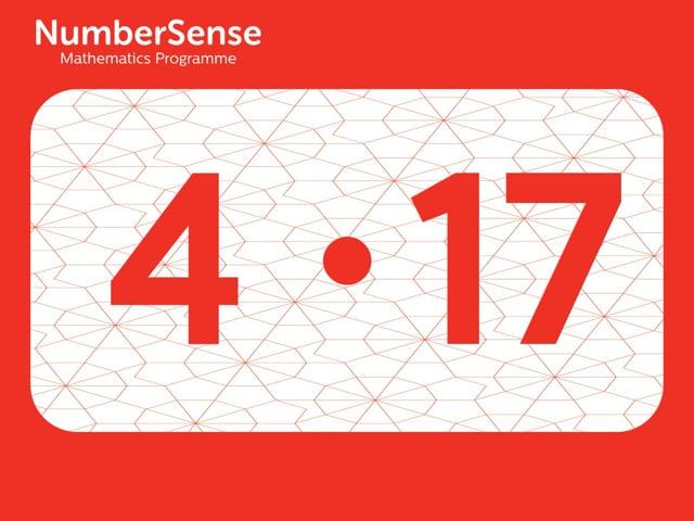 NumberSense Manipulating Numbers: Level 4, Task 17 (Gr.1, T.4, Wkbk 4)