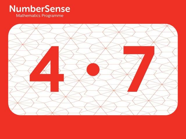NumberSense Manipulating Numbers: Level 4, Task 7 (Gr.1, T.4, Wkbk 4)