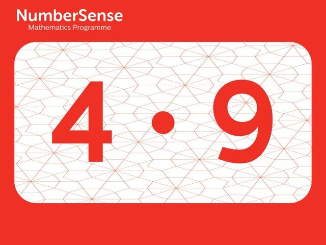 NumberSense Manipulating Numbers: Level 4, Task 9 (Gr.1, T.4, Wkbk 4)