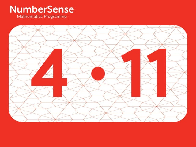 NumberSense Manipulating Numbers: Level 4, Task 11 (Gr.1, T.4, Wkbk 4)