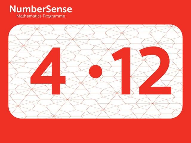 NumberSense Manipulating Numbers: Level 4, Task 12 (Gr.1, T.4, Wkbk 4)