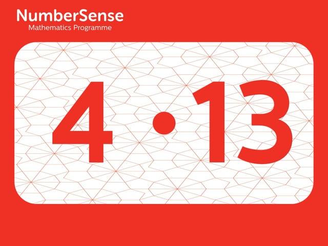 NumberSense Manipulating Numbers: Level 4, Task 13 (Gr.1, T.4, Wkbk 4)