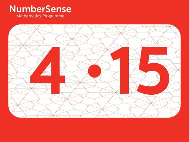 NumberSense Manipulating Numbers: Level 4, Task 15 (Gr.1, T.4, Wkbk 4)