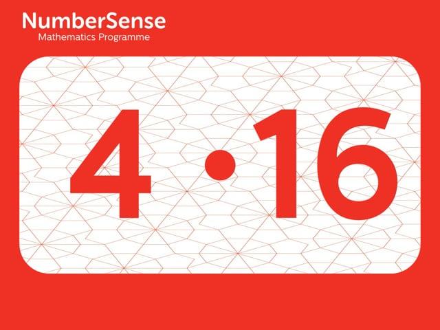 NumberSense Manipulating Numbers: Level 4, Task 16 (Gr.1, T.4, Wkbk 4)