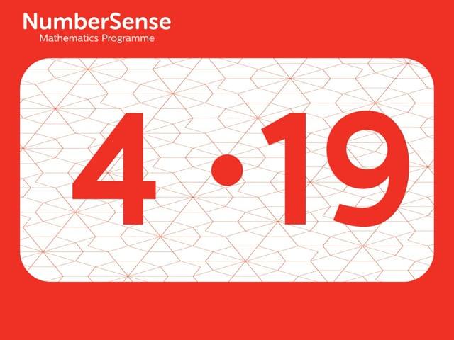 NumberSense Manipulating Numbers: Level 4, Task 19 (Gr.1, T.4, Wkbk 4)